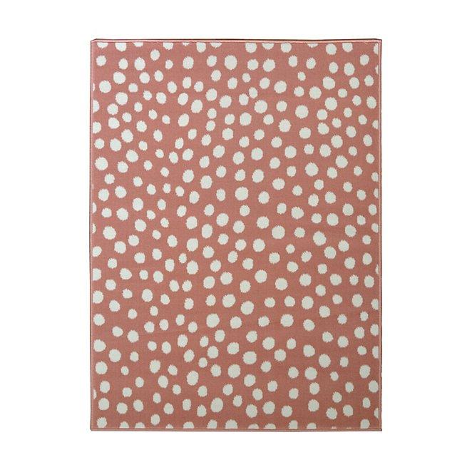 Pink Polka Dot Rug Home George