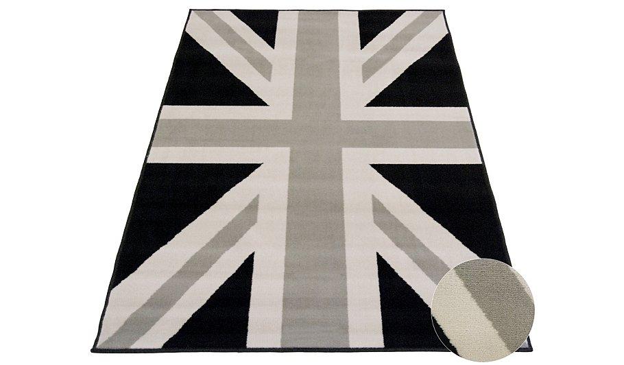 Monochrome Union Jack Rug Various Sizes