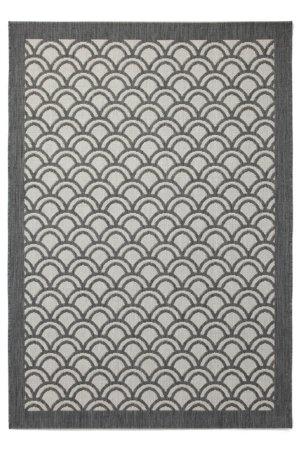 Grey Fan Rug