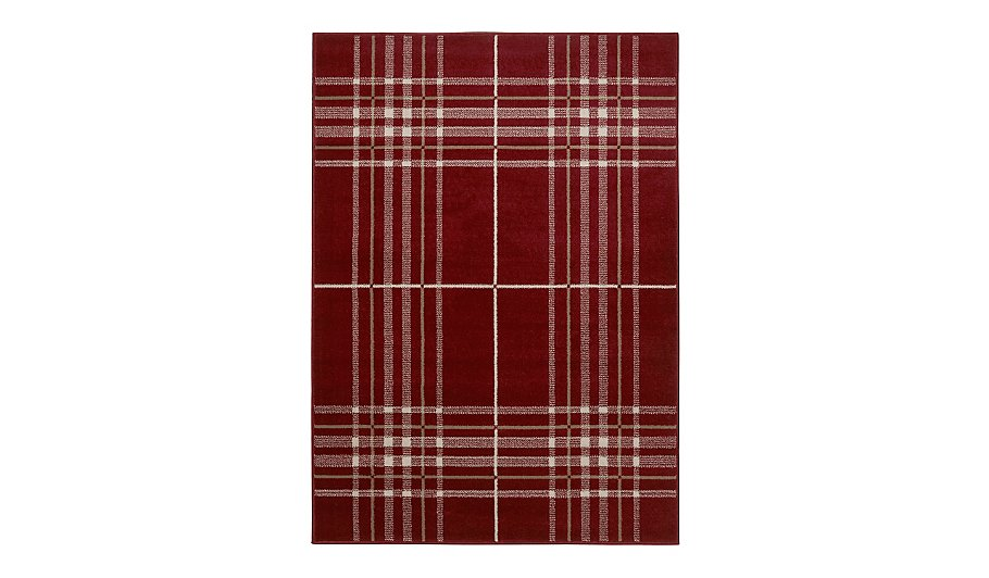 Homemaker Red Check Rug Various Sizes