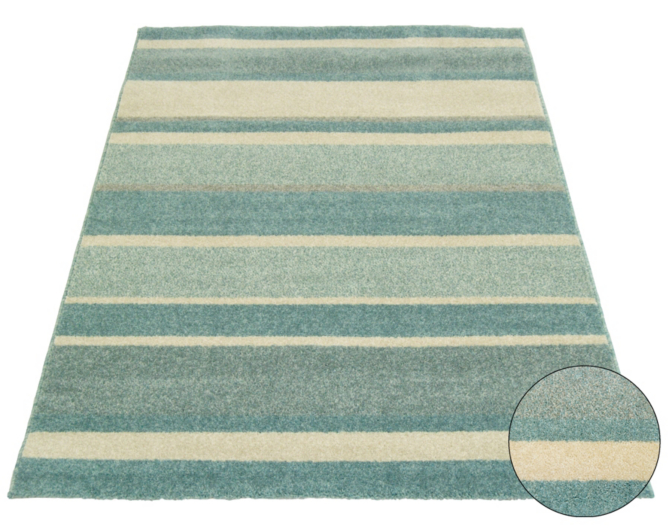 Homemaker Duck Egg Stripe Rug - 80 x 150cm | Home & Garden ...