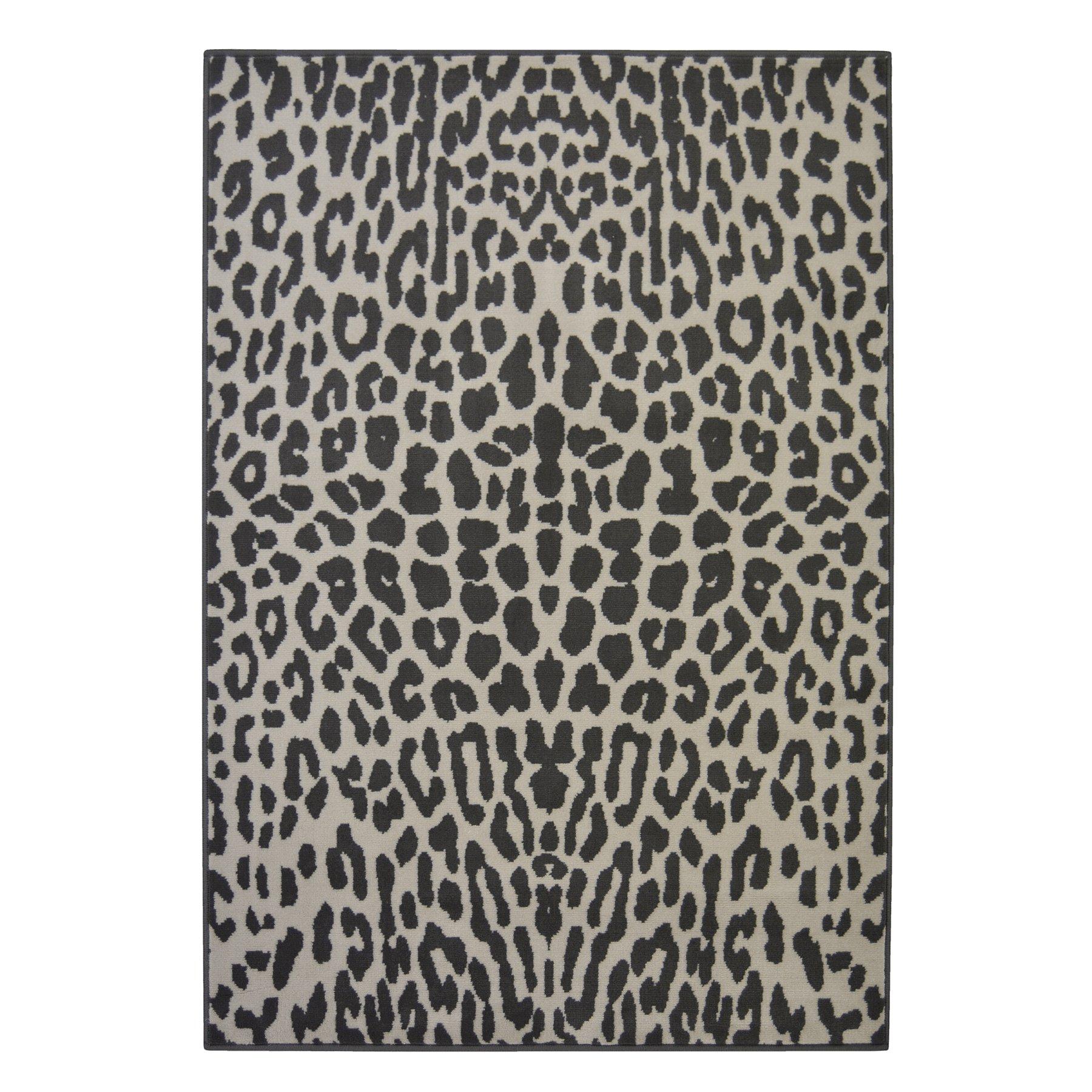 Leopard Print Rug Home George