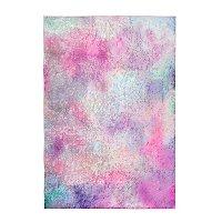 Pink Crushed Velvet Rug  100 X 150cm by Asda
