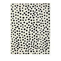 Monochrome Polka Dot Rug by Asda