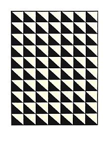 Monochrome Geometric Rug