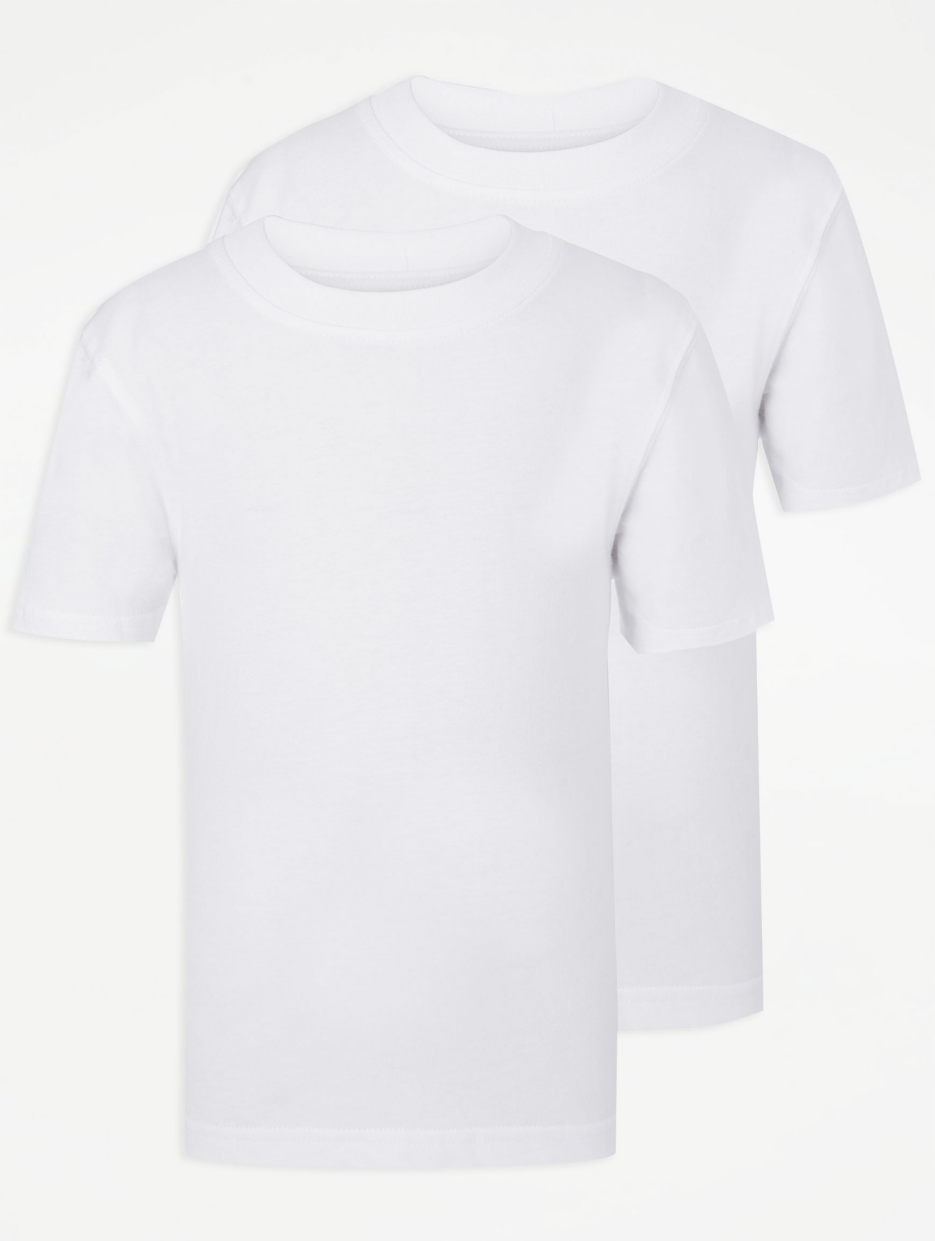 White Jersey Round Neck T-Shirt - 10 / WHITE I Saw It First