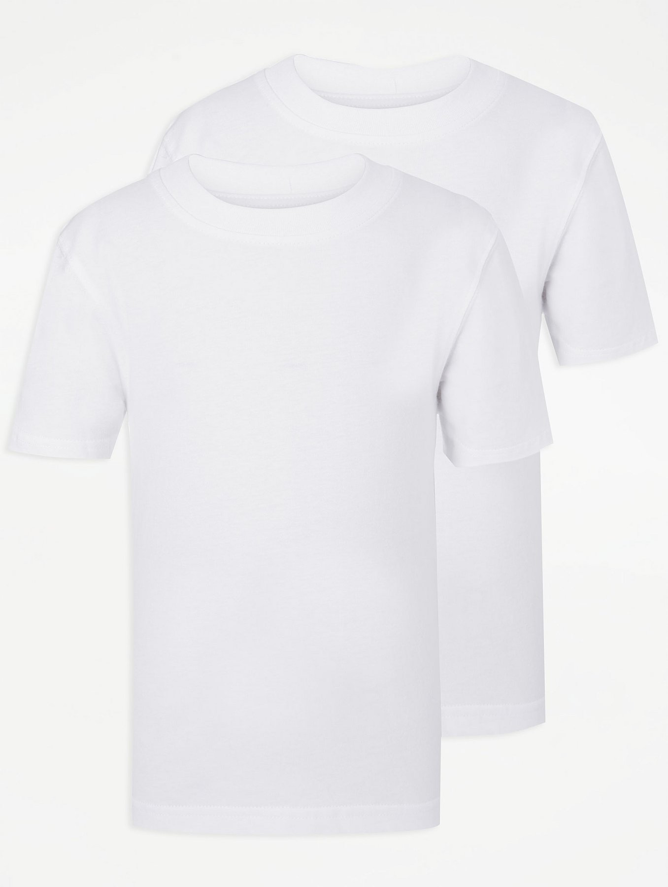 White Jersey Round Neck T-Shirt - 10 / WHITE I Saw It First Visa Payment Cheap Online vloeu
