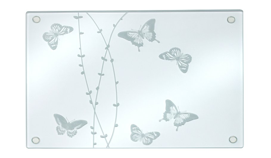 Luxury glass butterfly placemat set of 4 tableware for Glass table placemats