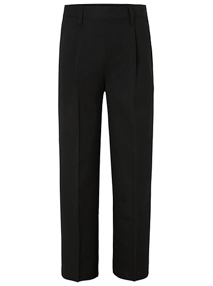 Essential black school trousers for boys in slim, skinny & flat front styles to see them through school. Next day delivery & free returns available.