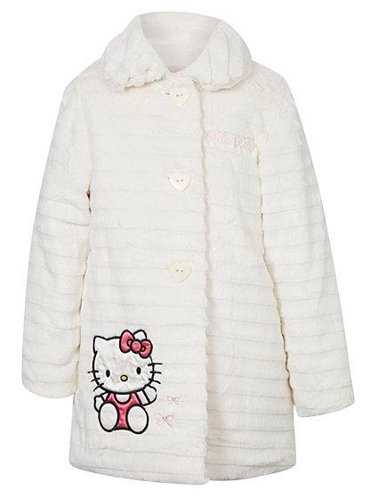 Hello Kitty Faux Fur Coat | Girls | George at ASDA