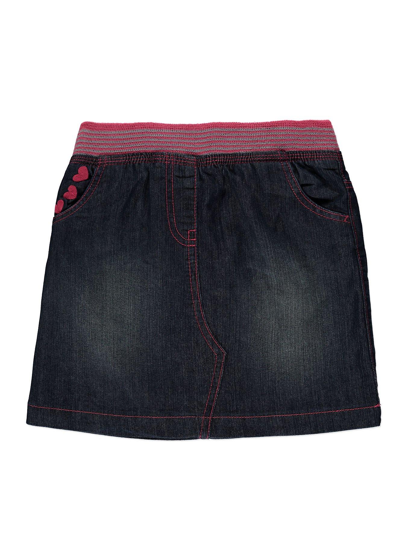 Miss Me Womens Embroidered Denim Skirt