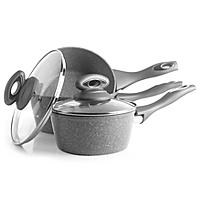 salter marble coated grey pan set 3 piece home garden. Black Bedroom Furniture Sets. Home Design Ideas