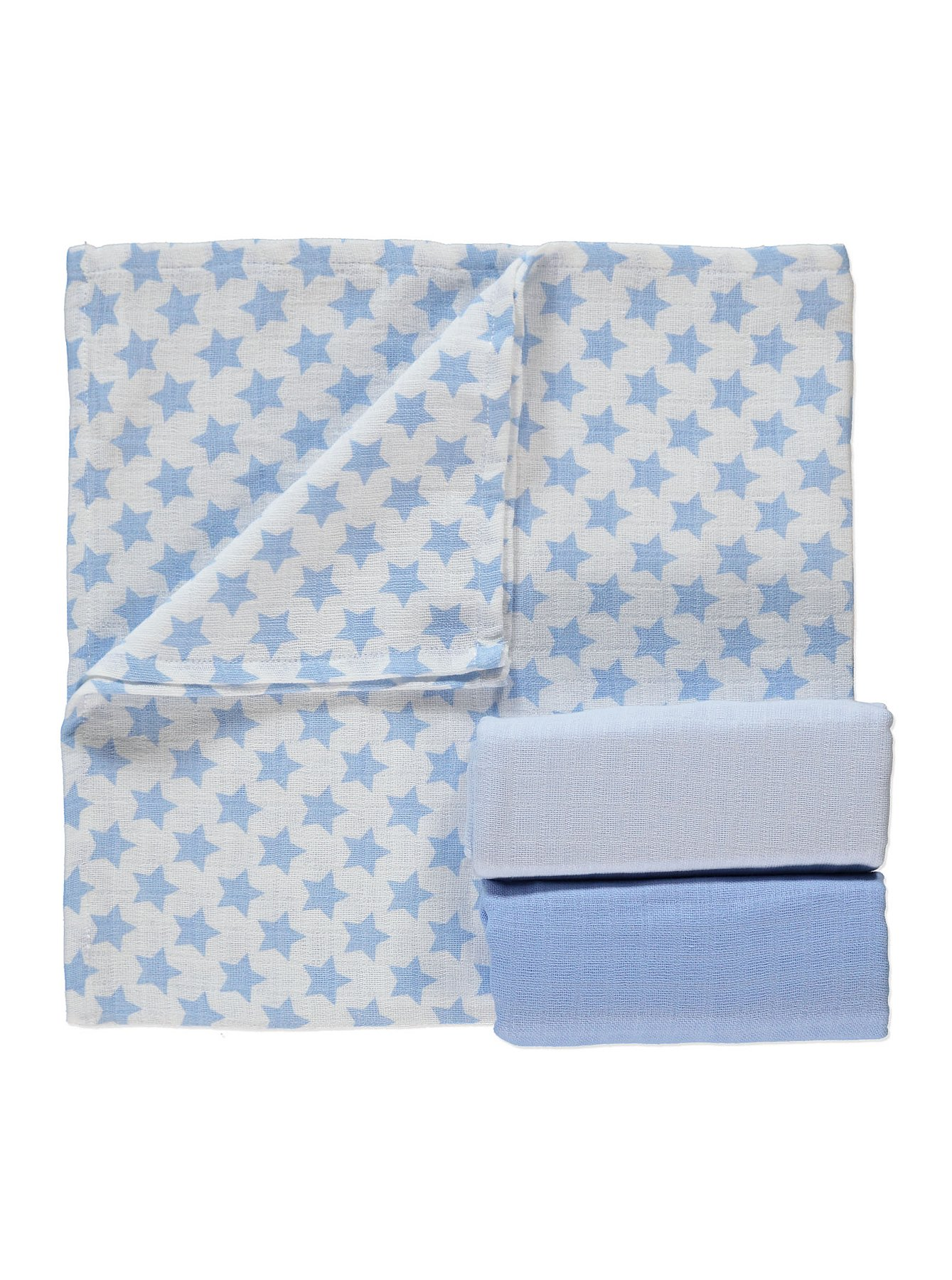 3 Pack Assorted Muslin Squares | Baby | George at ASDA