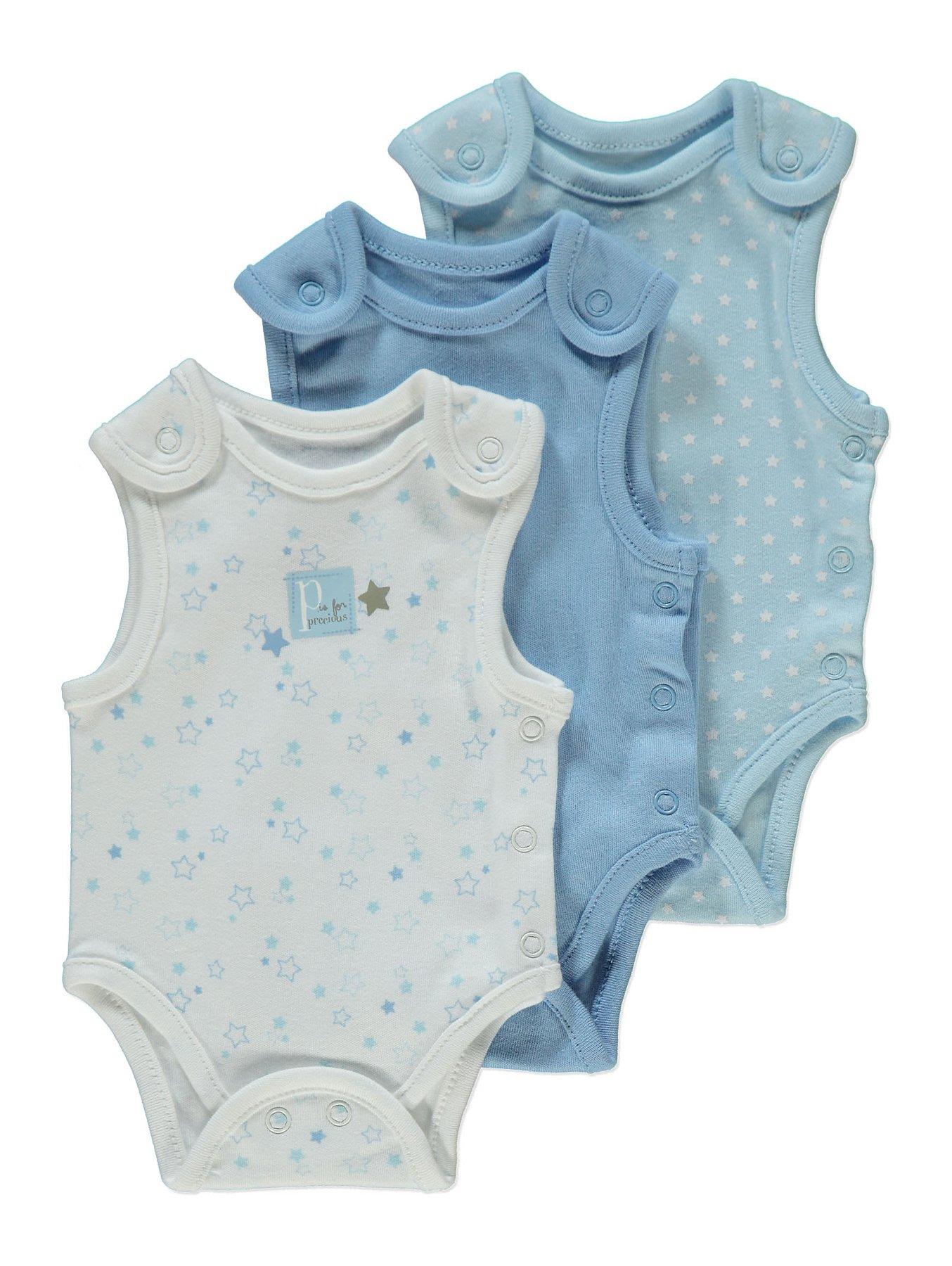 4e1e59c3873 Blue Premature Baby Bodysuit 3 Pack   Baby   George