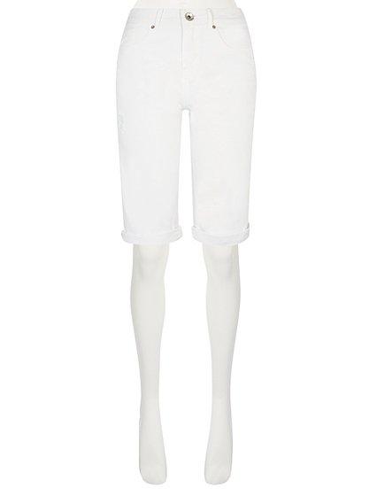 Distressed Denim Knee Length Shorts   Women   George at ASDA
