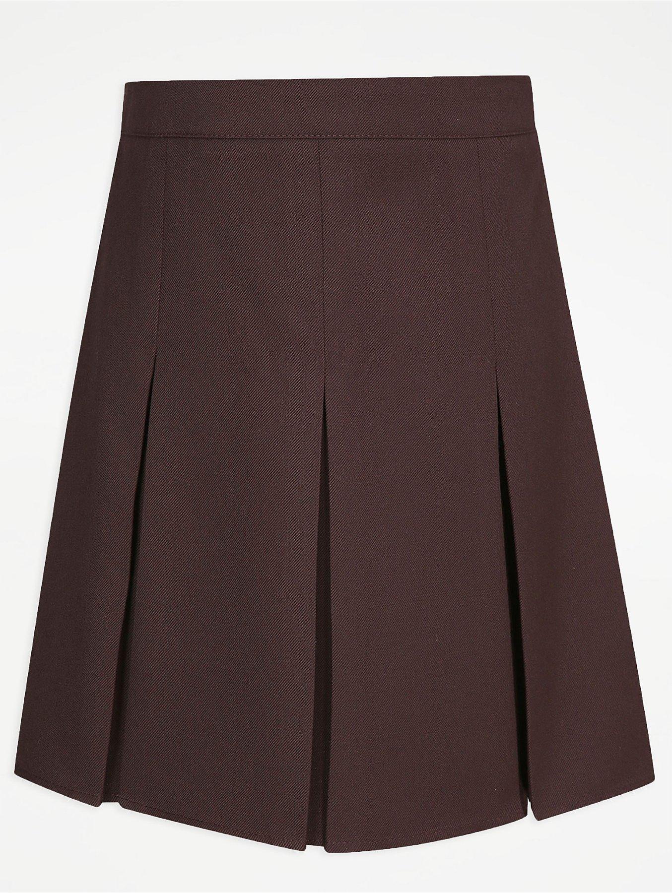 b7a7da834 Girls Brown Pleated School Skirt | School | George