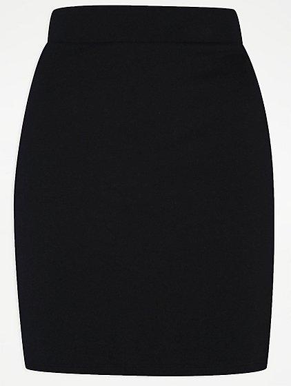Senior Girls Black School Jersey Tube Skirt | School | George