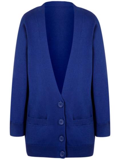 Girls Cobalt Blue School Longline Cardigan | School | George