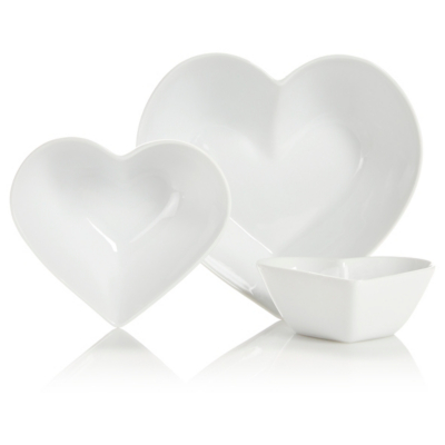 george home nest heart bowls set of 3 utensils accessories  sc 1 st  wswshome.tk : heart shaped plates set of 4 - pezcame.com