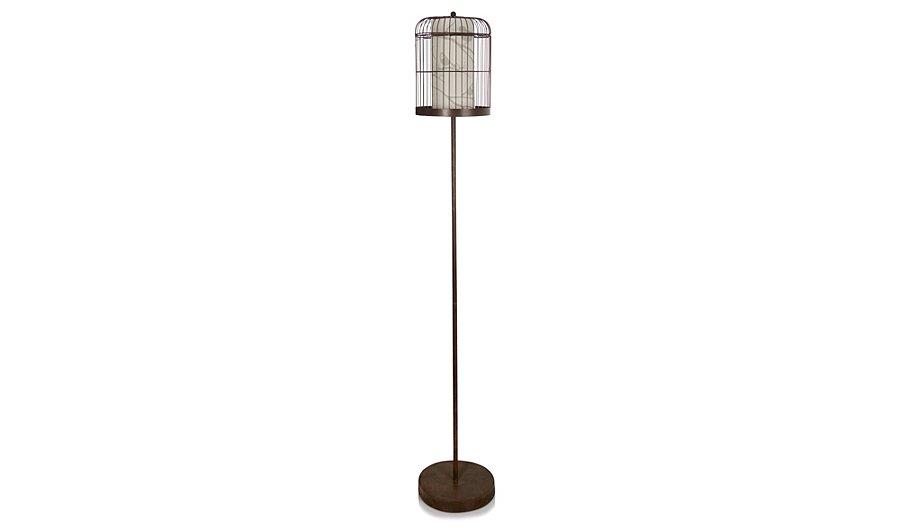 Metallic Birdcage Floor Lamp
