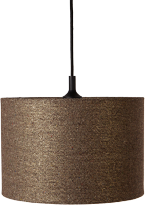 Exceptional Natural Textured Drum Light Shade