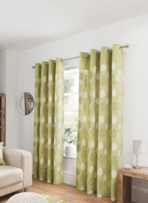 George Home Green Leaf Curtains