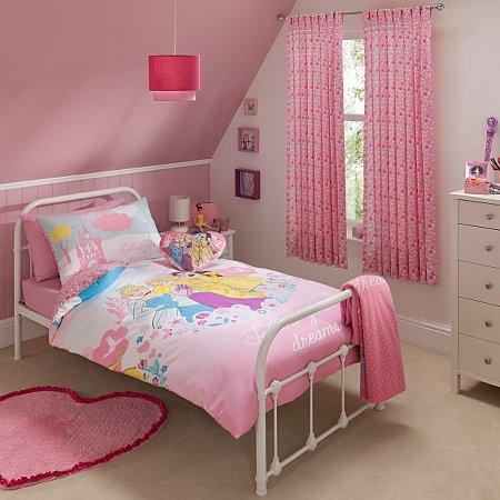 Disney princess bedroom range disney princess george at asda for Disney girl bedroom furniture