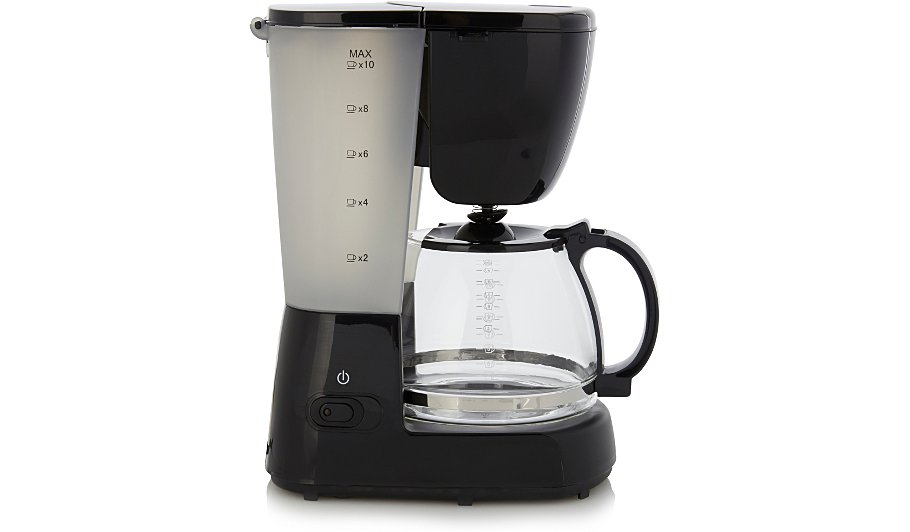 George Home Coffee Maker : George Home GCM101B 10 Cup Filter Coffee Machine Home & Garden George at ASDA