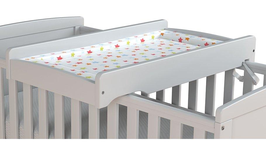 rafferty cot top changer white furniture george. Black Bedroom Furniture Sets. Home Design Ideas