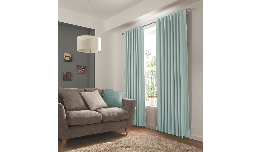 George Home Duck Egg Blue Hidden Tab Top Curtains