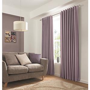 George Home Mauve Hidden Tab Top Blackout Curtains
