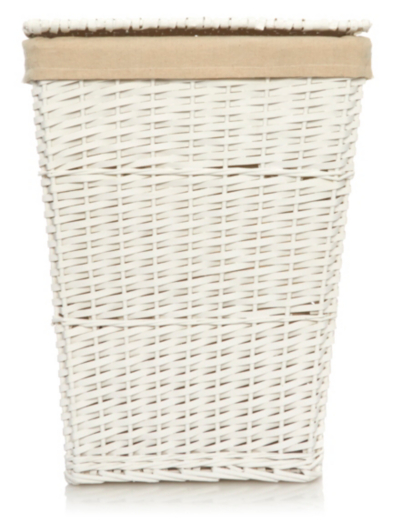 George Home White Laundry Hamper
