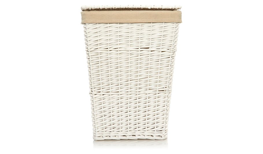 George Home White Laundry Hamper Home Amp Garden George