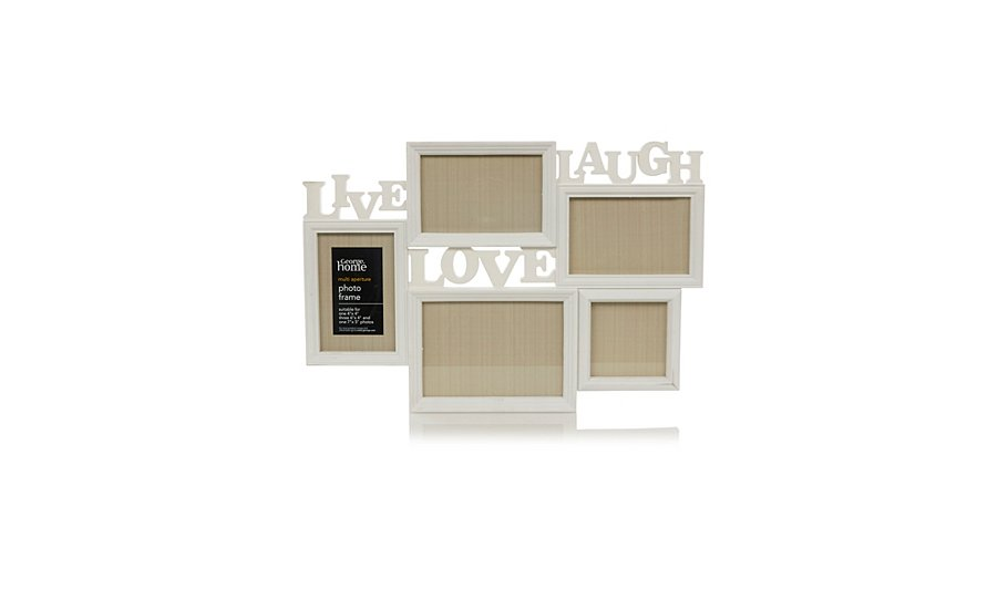 George Home Multi Aperture Text Photo Frame | Home & Garden | George ...