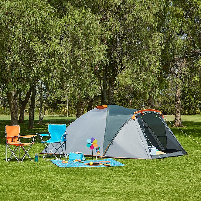 Ozark Trail Grey and Orange Double layer 4 Person Tent