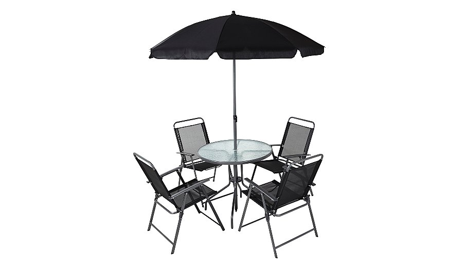 . Cuba 6 Piece Patio Set   Black   Home   Garden   George at ASDA