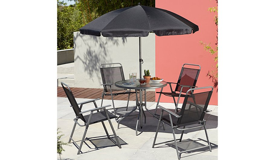 Cuba 6 Piece Patio Set   Black. Cuba 6 Piece Patio Set   Black   Home   Garden   George at ASDA