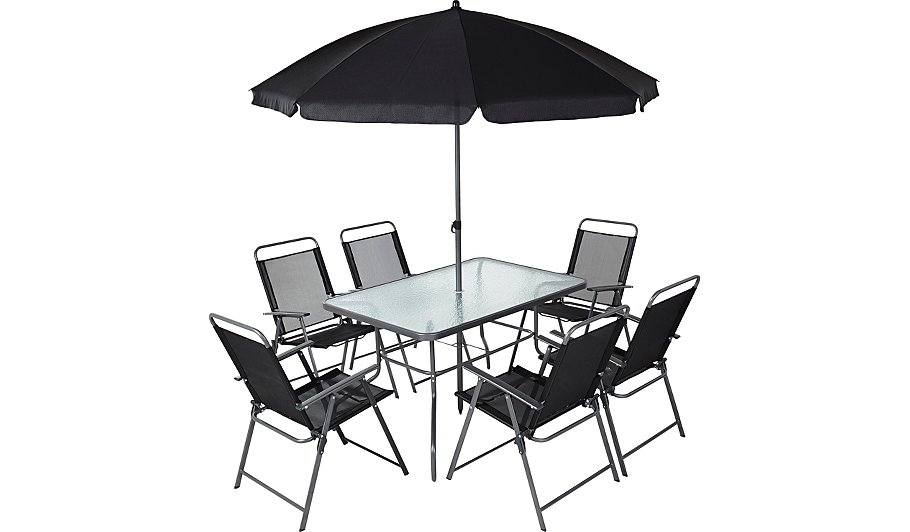 . Cuba 8 Piece Patio Set   Home   Garden   George at ASDA