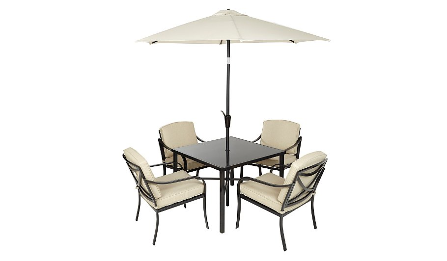 Haversham Classic 6 Piece Patio Set - Linen | Home & Garden | George at ASDA - Haversham Classic 6 Piece Patio Set - Linen Home & Garden George
