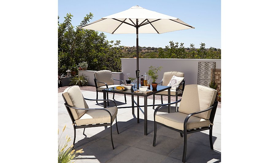 haversham classic 6 piece patio set linen home garden george at asda - Garden Furniture 6