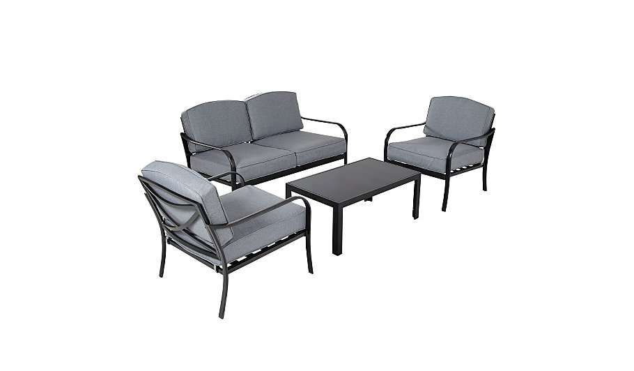 Haversham 4 Piece Classic Sofa Set   Charcoal   Home   Garden   George at  ASDA. Haversham 4 Piece Classic Sofa Set   Charcoal   Home   Garden