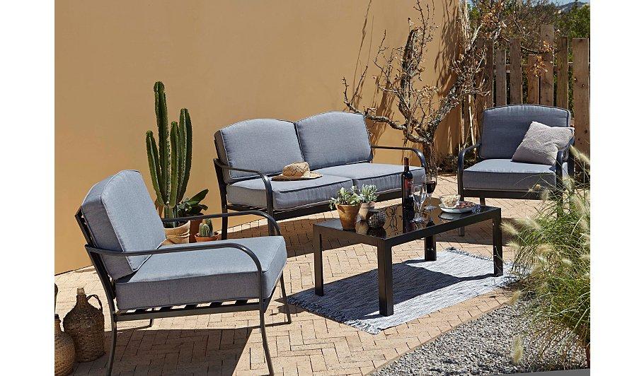 Haversham 4 Piece Classic Sofa Set Charcoal Home