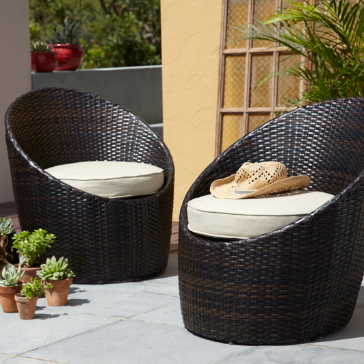 Garden Furniture Jakarta jakarta pair of egg chairs - linen | home & garden | george at asda