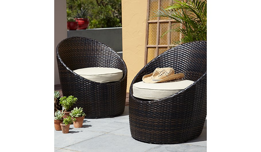 . Jakarta Pair Of Egg Chairs   Linen   Home   Garden   George at ASDA