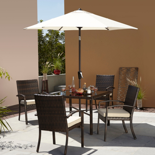 Garden Furniture Jakarta jakarta 6 piece patio set- linen | home & garden | george at asda