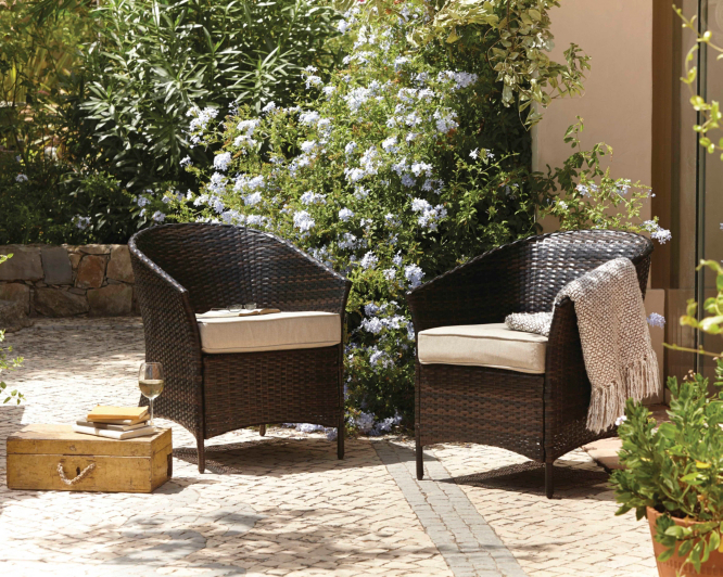 Garden Furniture Jakarta jakarta 2 classic patio tub chairs | garden furniture | george at asda