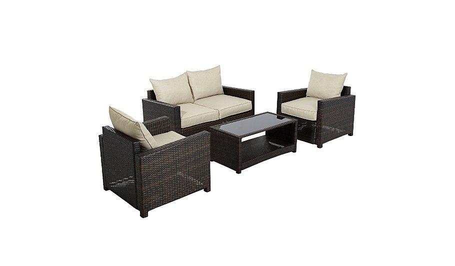 Jakarta 4 Piece Deluxe Sofa Set