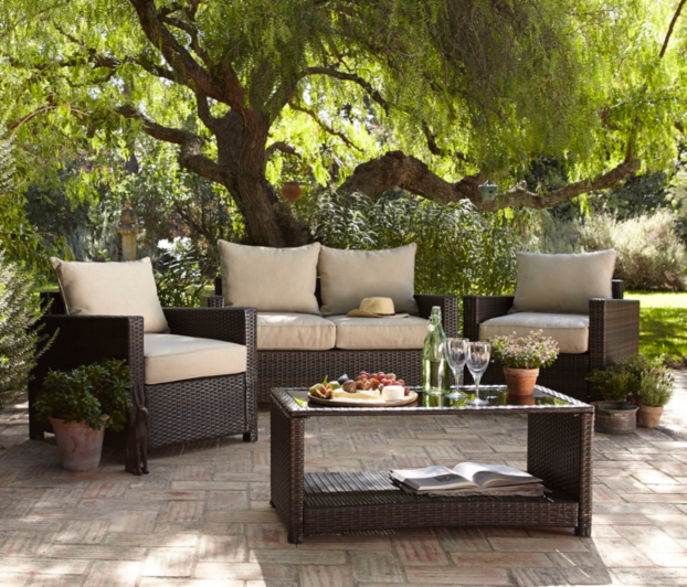Garden Furniture Jakarta jakarta 4 piece deluxe conversation sofa set | conservatory