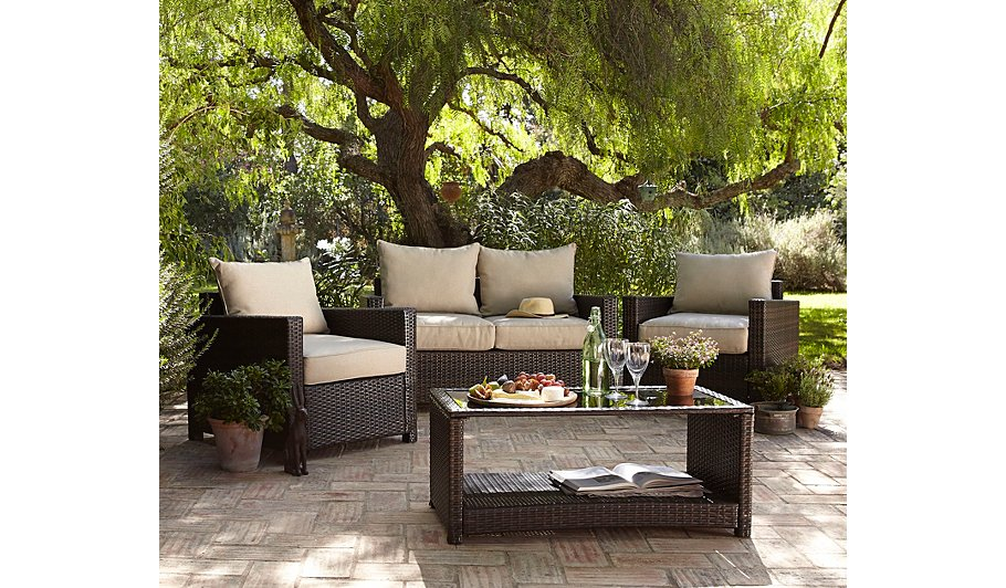 Double clicktap to zoom or select Image to load. Jakarta 4 Piece Deluxe Sofa Set   Home   Garden   George at ASDA