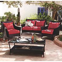 Jakarta 4 Piece Classic Conversation Sofa Set | Garden ...